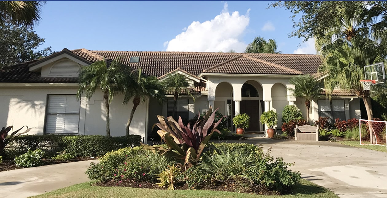 Tile roof cleaning by Collier County Pressure Cleaning