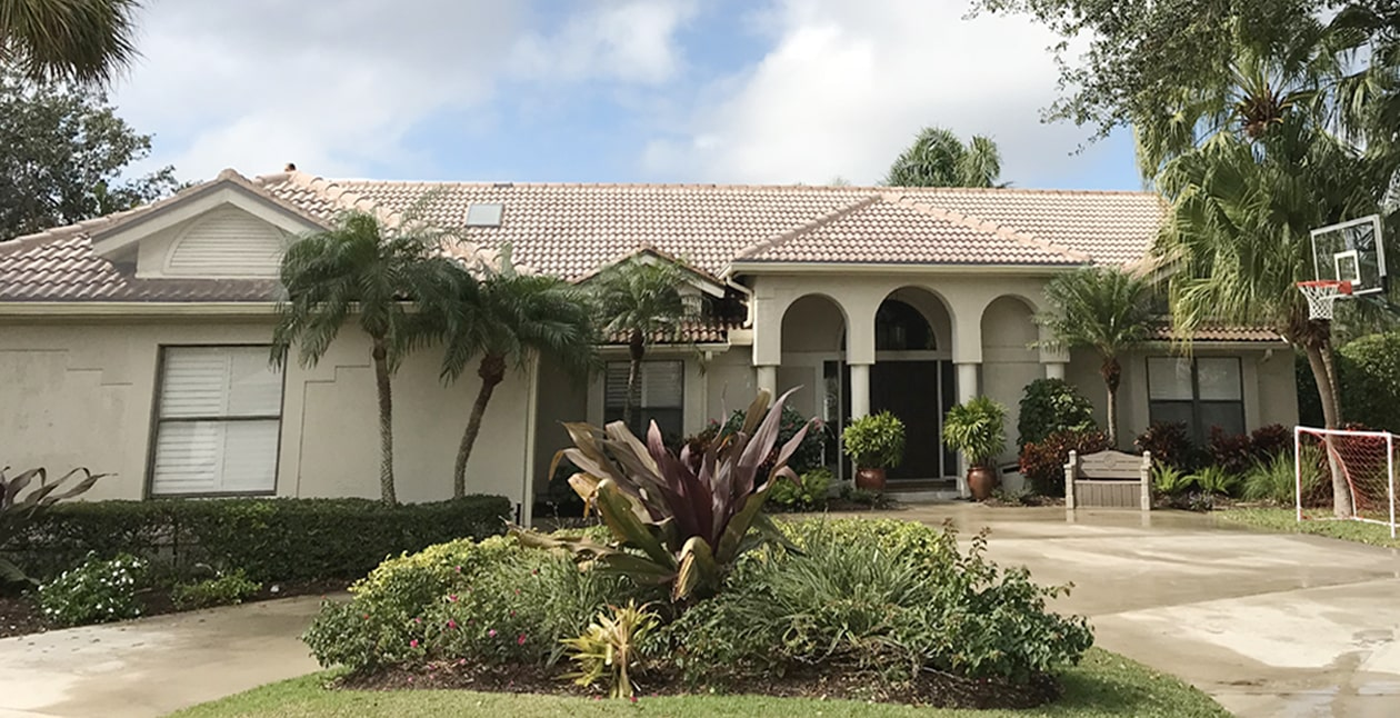 Roof cleaning by Collier County Pressure Cleaning