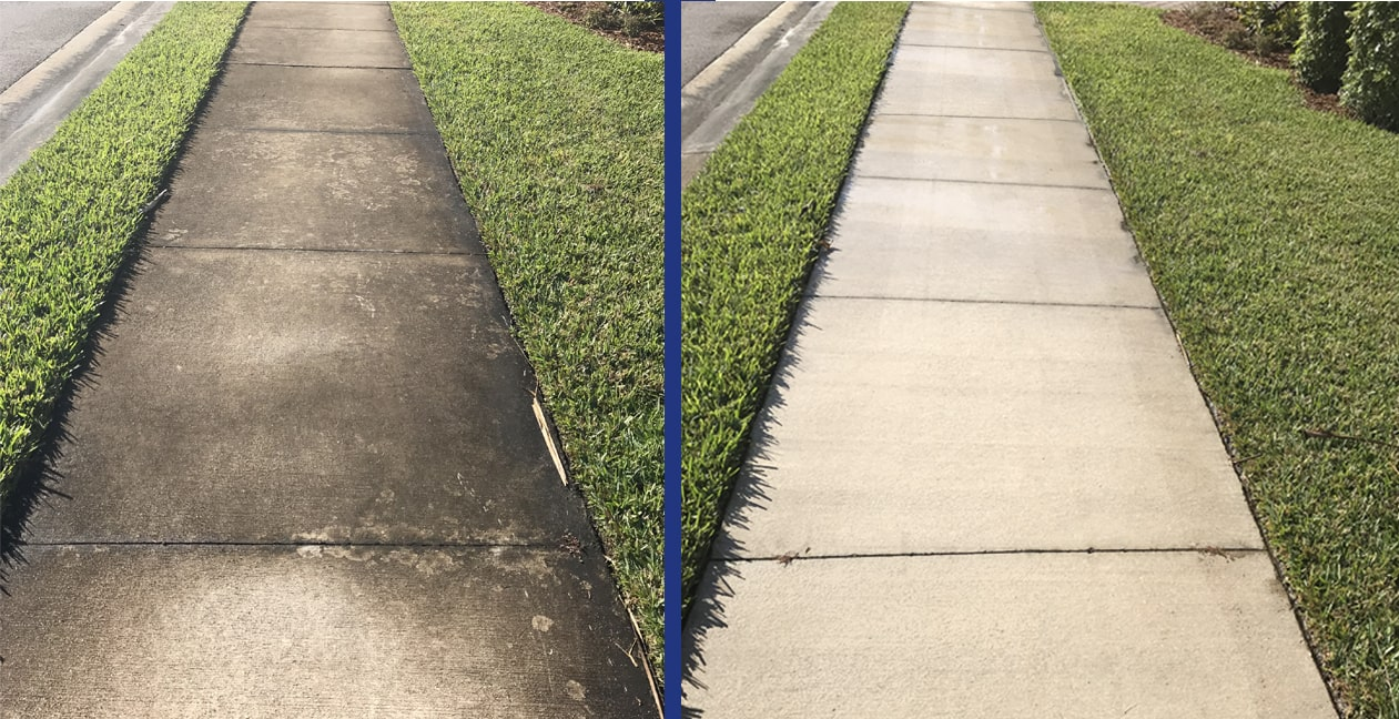 sidewalk cleaning Naples by Collier County Pressure Cleaning